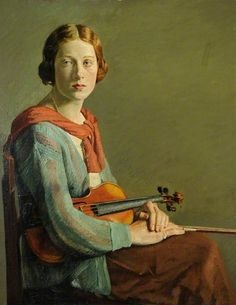 ♪ The Musical Arts ♪ music musician paintings - The Violinist, William Rothenstein