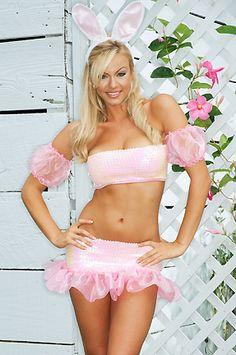 Pink Sequin Bunny Costume $19.99