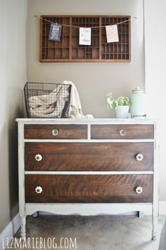 Tutorial on stripping furniture...beautiful dresser by Liz Marie