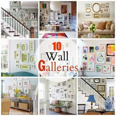 fun wall galleries for your home @Mandy Bryant Bryant Dewey Generations One Roof