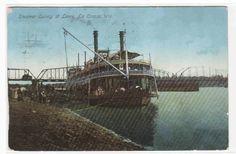 Steamer Quincy at Levee La Crosse Wisconsin 1912 postcard - bidStart (item 34284493 in Postcards... Other)