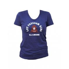 Apple Pie U.S. of Awesome Let Freedom Ring Women's T-Shirt