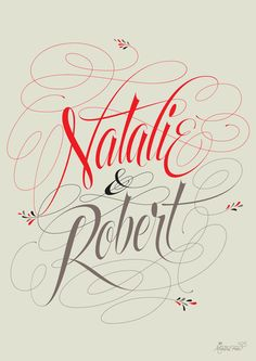 Natalie & Robert by Martina Flor, via Behance