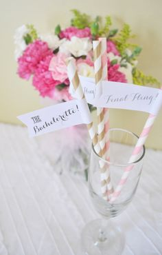14 Bachelorette Party Striped Paper Straws by LovelyLifeStyling, $15.00