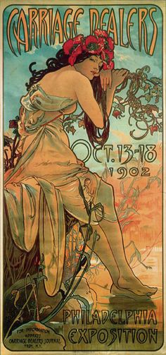 Alphonse Mucha alphons mucha, art blog, design art, artnouveau, art history, soft pastels, posters, alphonse mucha, art nouveau
