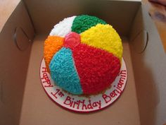 Beach Ball Smash Cake