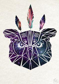 geometric owl.....by society6