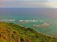 View from the top of Diamond Head #photo #hike #hawaii #oahu