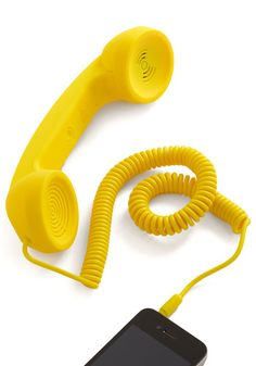 Call to Charm Cell Phone Handset in Yellow......huh?