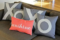 Back 'Porch' | Anthropologie Inspired XOXO Pillows  |  View From The Fridge