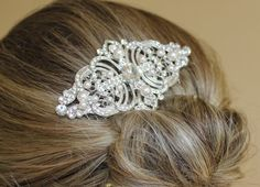 Crystal Bridal Hair comb Wedding Hair Jewelry by JamJewels1