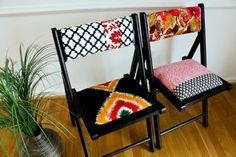 Spice up folding chairs!