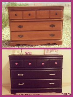 Refinish furniture without sanding.  I'm gonna have to try this!  The girls' dressers need an update :)