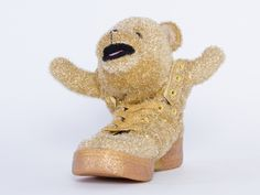 Adidas Originals X Jeremy Scott Bear Womens in Gold at Solestruck.com  I kind of REALLY want these....