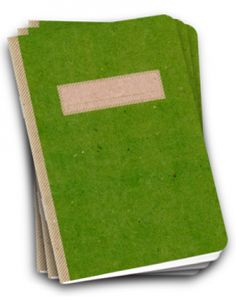 green composition notebook