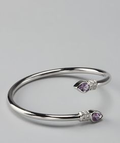 Take a look at this Amethyst & Diamond Bangle by Marsala on #zulily today!