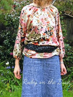 Ruby in the Dust: Peasant blouse pattern tutorial