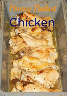 Honey Baked Chicken Drummettes on MyRecipeMagic.com