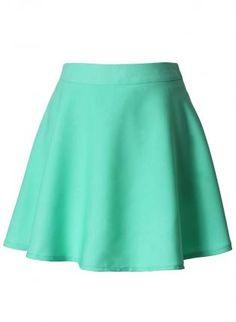 Mint Skater Skirt,  Skirt, skater skirt  high waist, Casual