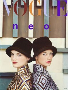 misscheriedior:  Guinvere Van Seenus and Carolyn Murphy shot by Steven Meisel for Vogue Italia
