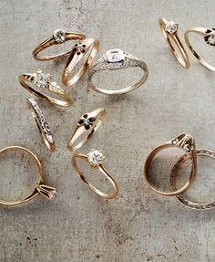 stunning vintage rings from @BHLDN Weddings Weddings