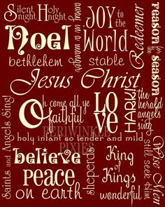 Subway Art - The Meaning of Christmas PRINTABLE 11 x14. $6.00, via Etsy.