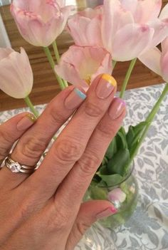 How to Do a Rainbow French Manicure Yourself