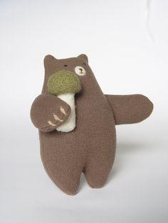 magic bear, bears, plushi, green mushroom, doll inspir, mushrooms