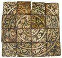 French medieval tiled pavement Ensemble de carreaux