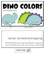 Dino Colors File Folder Game