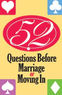 Premarital Counseling: 52 questions card deck
