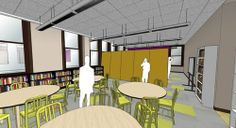 Sliding walls proposed for Masterman School Lib (was this built)?