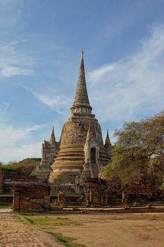 Temple . Ayutthaya . Thailand