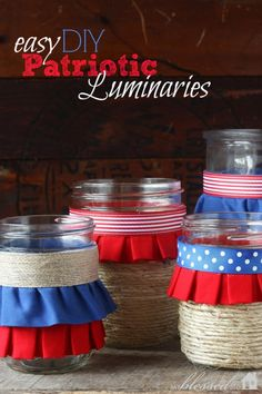 july crafts, mason jars, patriotic crafts