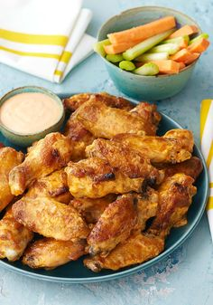 Hot & Spicy Grilled Chicken Wings -- This tasty grilled chicken wing recipe is hot and spicy--and creamy, too, with tangy ranch dressing and mayo.