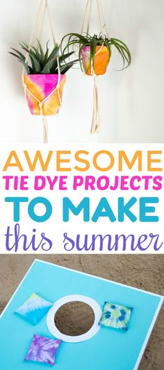 Summer is here and that means it's time to get creative! Check out  these 3 Awesome Tie Dye Projects to Make This Summer. #diy #teen #teens  #diysforteens #teendiy #diyprojectsforteens #summer #summerfun #fashion #tiedye