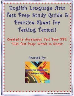 ELA Test Prep Study Handout