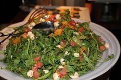 Arugula Salad with Diced Tomatoes