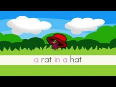 'at' reading video (rat, cat, sat)
