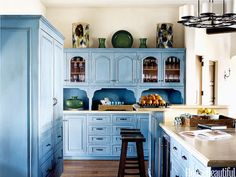 Joyful Blue- Happy Kitchen - House Beautiful