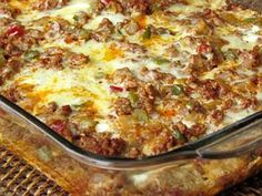 Mexican Breakfast Casserole with Chorizo and Veggies