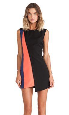 BCBGMAXAZRIA Nikole Bodycon Dress in Black Combo