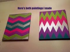 DIY Chevron Paintings