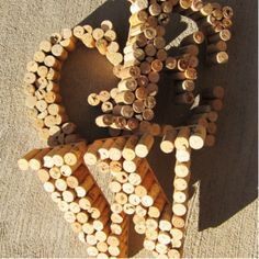 Wine Cork Monogram. Totally doing this.