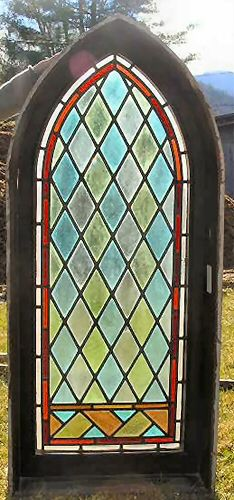 Gothic Revival Stained Glass Window