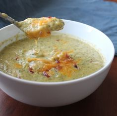 Broccoli Cheese Soup (lighter)