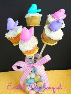 Easter Peep bouquet @Wendy Felts Werley-Williams.you-made-that.com