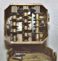 Scarificator mechanism -- Used for bloodletting. Editorial note: Jeezum.