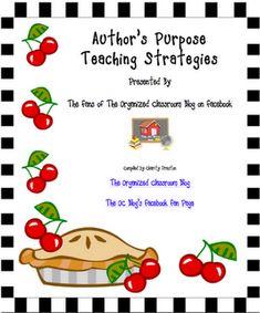 Author's Purpose Teaching Strategies