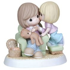 Precious Moments Mom, You're Sew Wonderful A perfect Precious Moments for Mother's Day. Features a mom fixing her daughters stuffed bear. Figurine is made of porcelain. $60.00 #PreciousMoments #MothersDay #Mom #Family